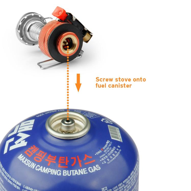 Etekcity Ultra Portable Camping Stove Connects Right To A