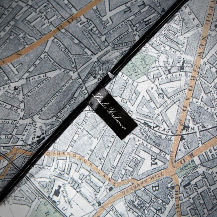 Umbrella With a Map of London on the Inside of It