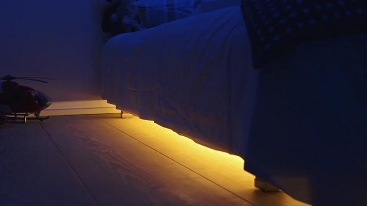 MyLight.Me Under The Bed Motion Sensor Night-Light - under bed light turns on when it senses motion