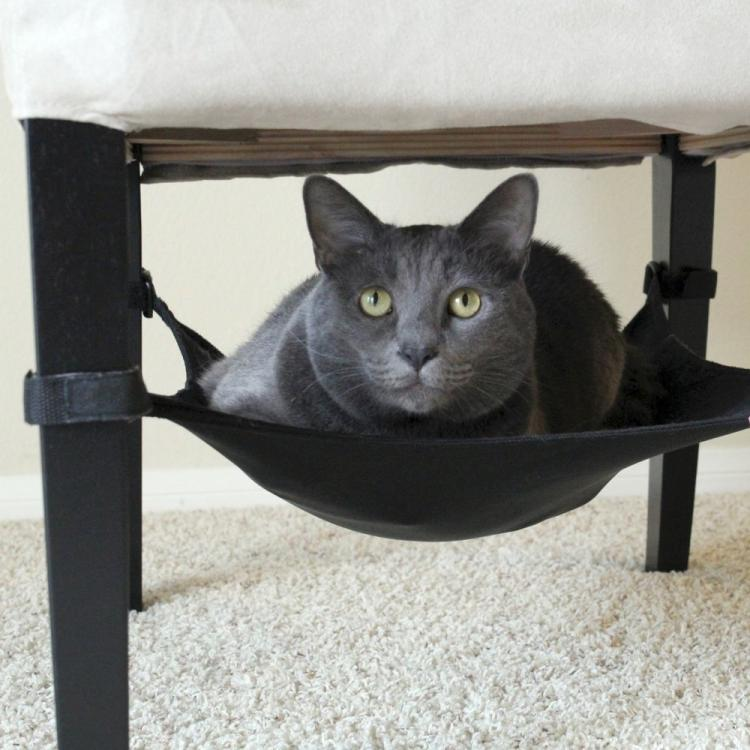 Cat Crib An Under Chair Cat Hammock