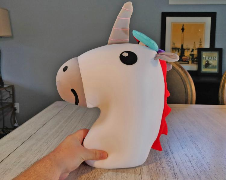 Unicorn Pillow Converts Into a Rainbow Travel Neck Pillow - Unicorn/Rainbow changing travel pillow