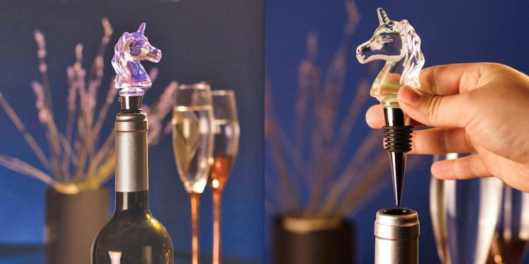 Illuminated Unicorn Wine Bottle Stopper