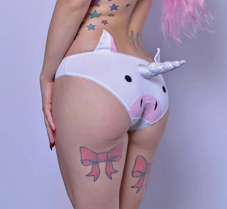 3D Unicorn Panties - Horned Unicorn Underwear