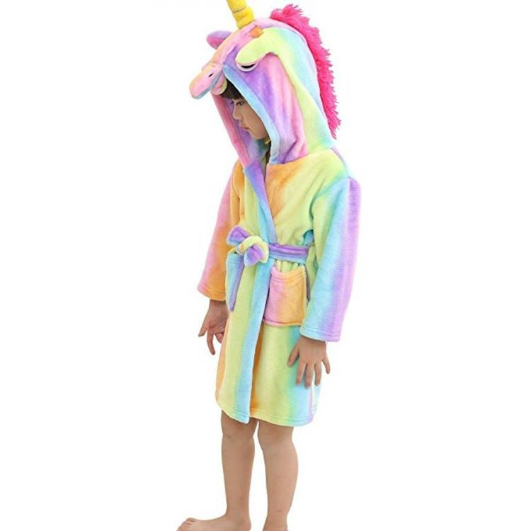 Kids Unicorn Flannel Robe