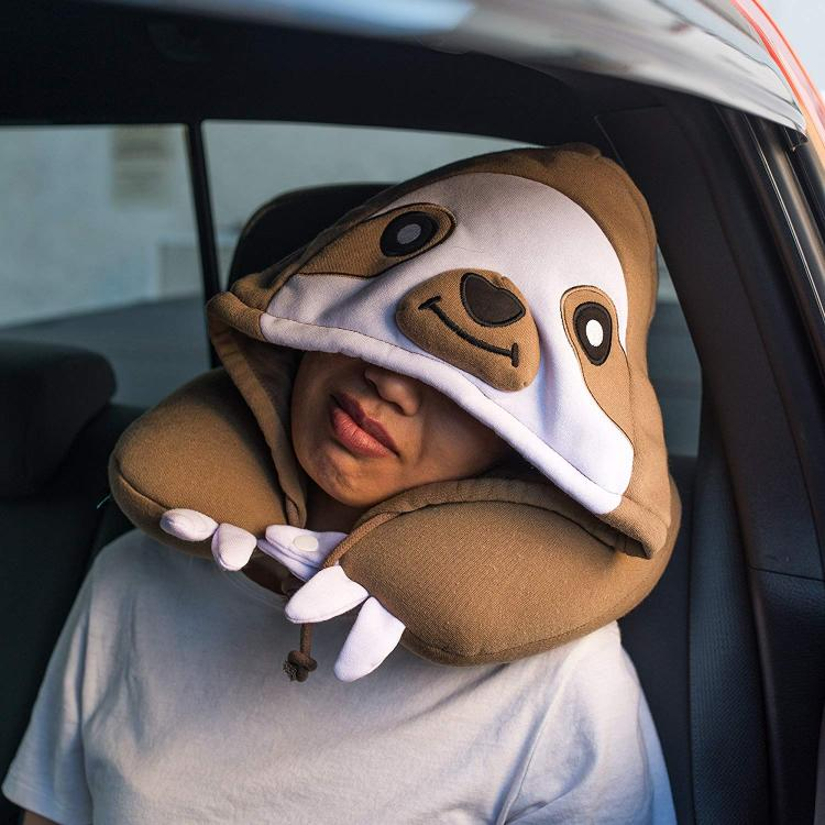 Sloth Hooded Neck Pillow