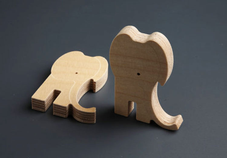 Unique Wooden Animal Puzzles For Babies - Elephants