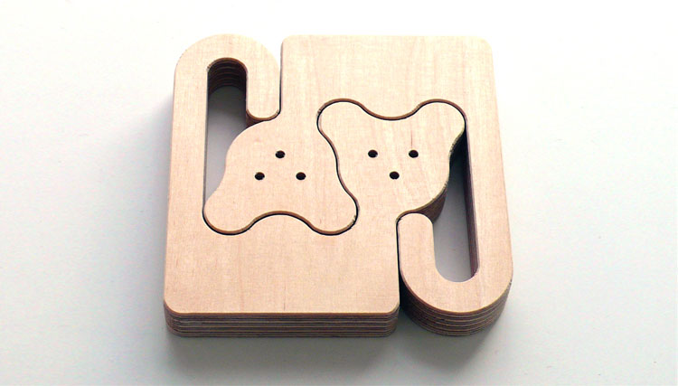 Unique Wooden Animal Puzzles For Babies - Monkeys