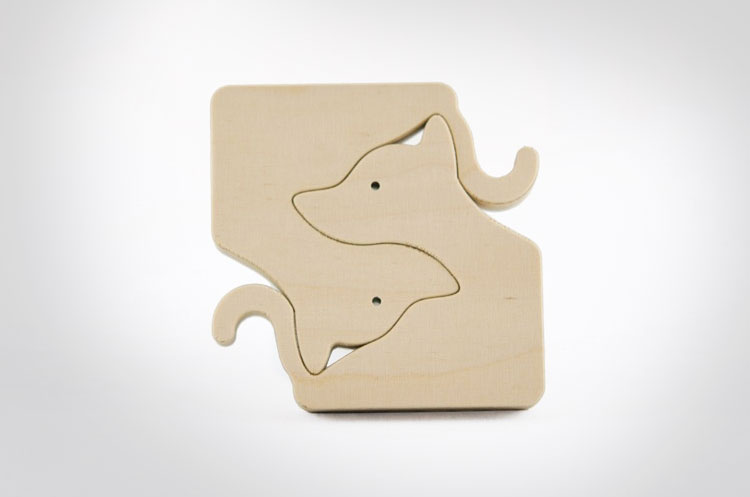 Unique Wooden Animal Puzzles For Babies - Dogs