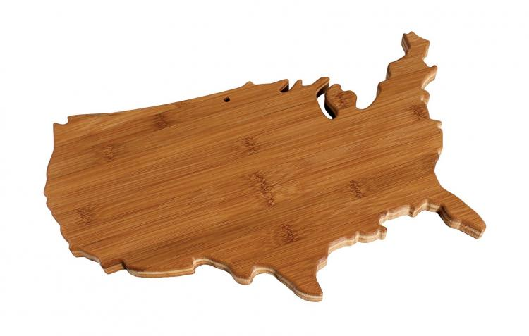 United States Cutting Board - USA Shaped Cutting Board