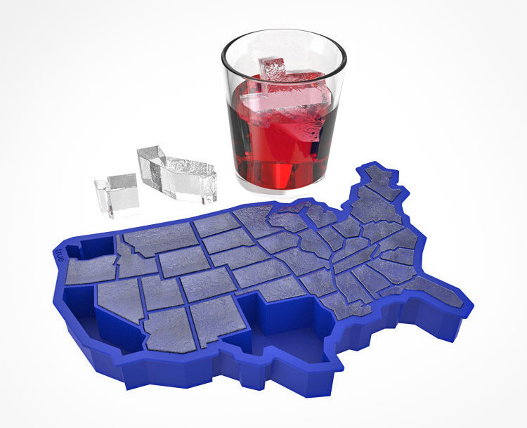 United States Shaped Ice Cube Tray
