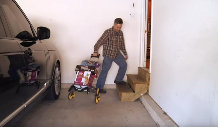 Upcart Helps You Haul Heavy Objects Up And Down Stairs