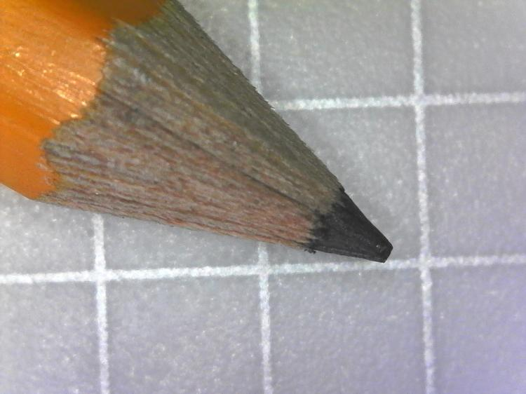 Magnified Pencil Tip