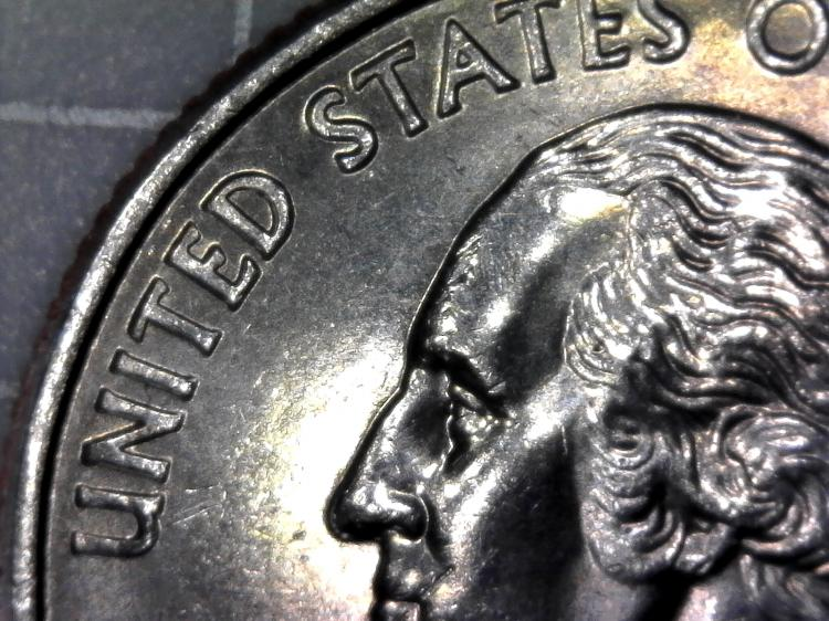 Magnified US Quarter