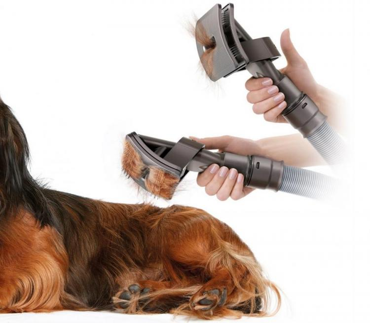 This Dog Brush Vacuum Attachment Helps You Brush Excess Hair From Your Dogs