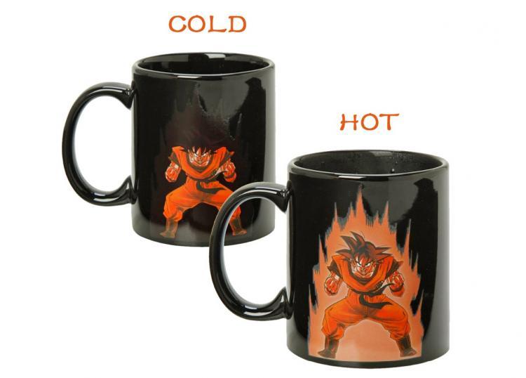 Vegeta and Goku Dragon Ball Z Heat Changing Coffee Mug