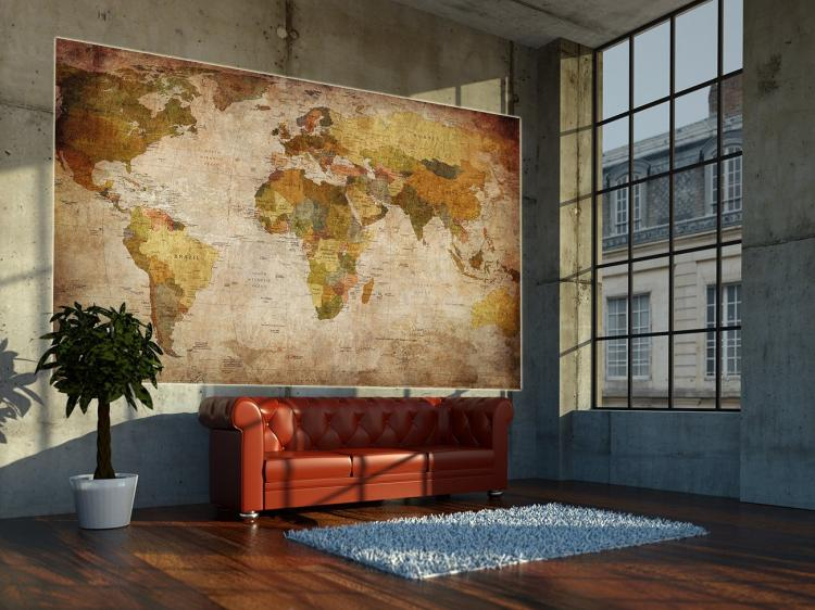 Vintage world map wall mural vintage world map wall mural giant vintage world map wallpapper gumiabroncs Gallery