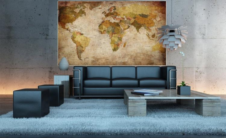 Vintage World Map Wall Mural - Giant Vintage World Map Wallpapper