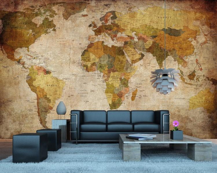 Vintage world map wall mural vintage world map wall mural giant vintage world map wallpapper gumiabroncs Image collections