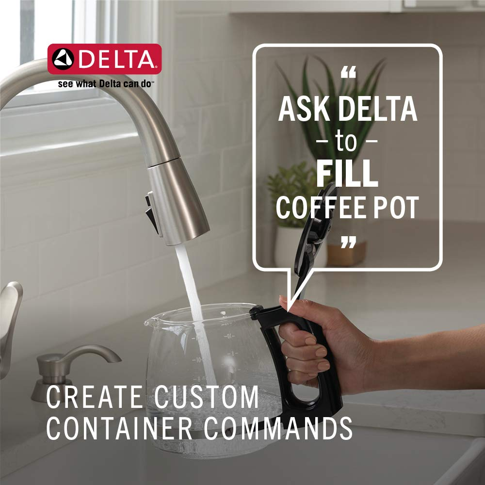 Delta Voice-Activated Smart Faucet - Turns on water hands-free - Smart Faucet gives precise water measurements