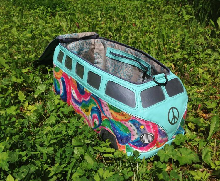 Volkswagen Hippy Bus Leather Purse/Bag