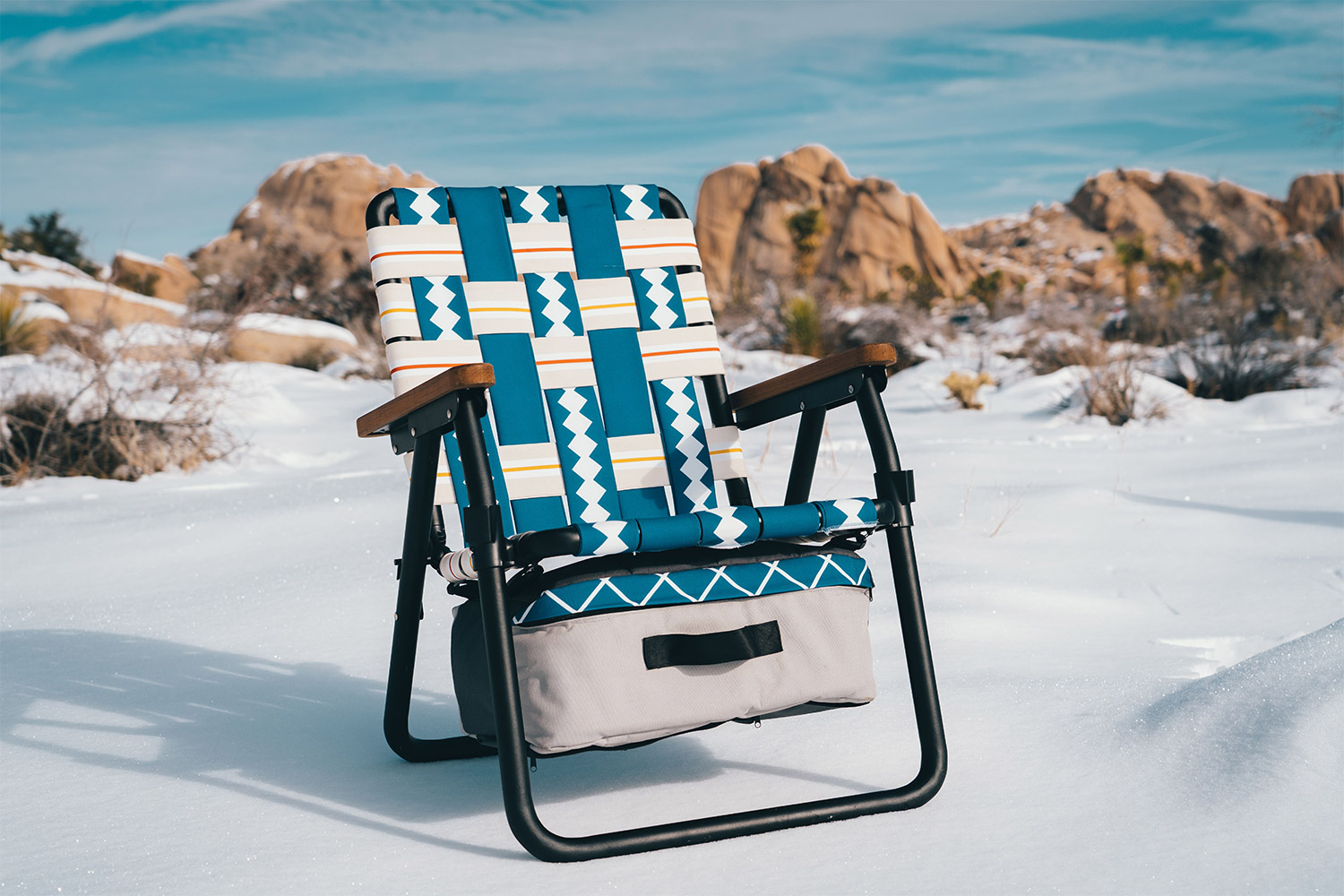 Parkit Voyager Is a 3-in-1 Lawn Chair, Cooler, And Backpack - Adventure folding lawn chair