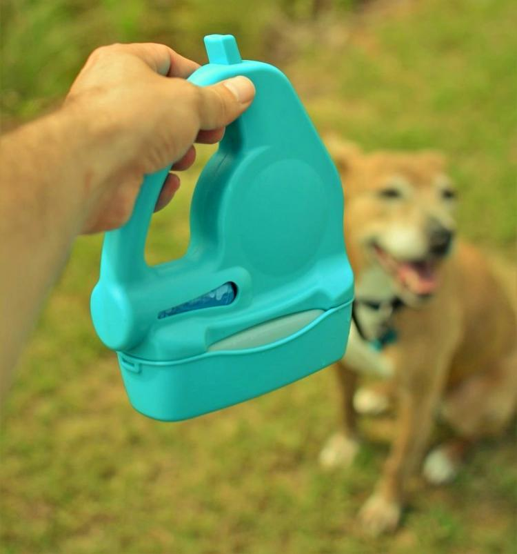 WalkWhiz Multi-Leash: Retractable Dog Leash With Integrated Waste Bag Holder and Water Bowl