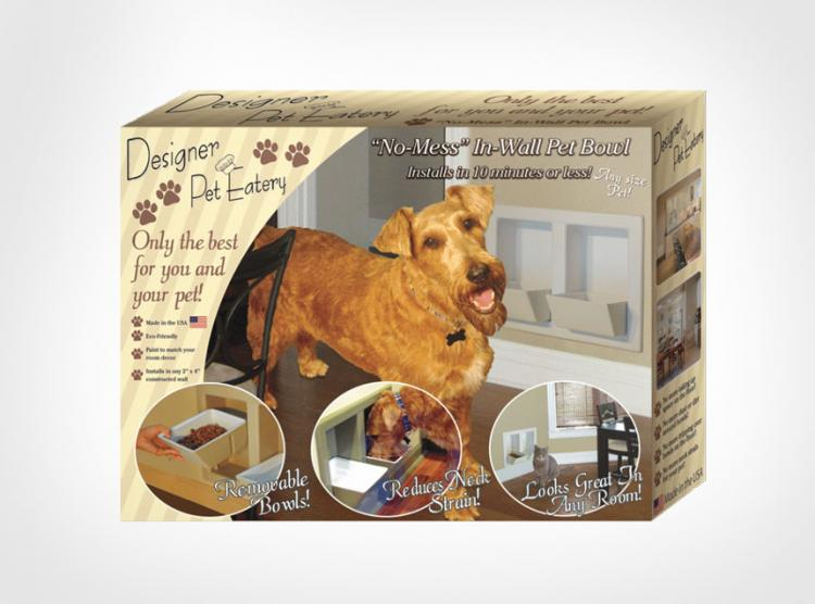Designer Wall Mounted Pet Food Bowls