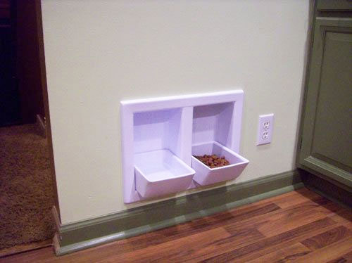 Wall Mounted Dog Food And Water Bowls