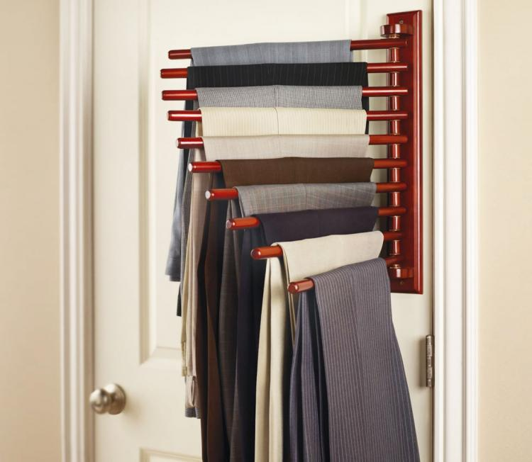 Wall Mounted Trouser Rack - 10 Pair