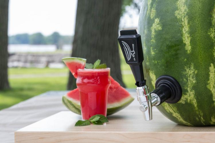 Watermelon Keg Tap - Kegworks Keg Tap Turns Any Watermelon Into a Drink Dispenser
