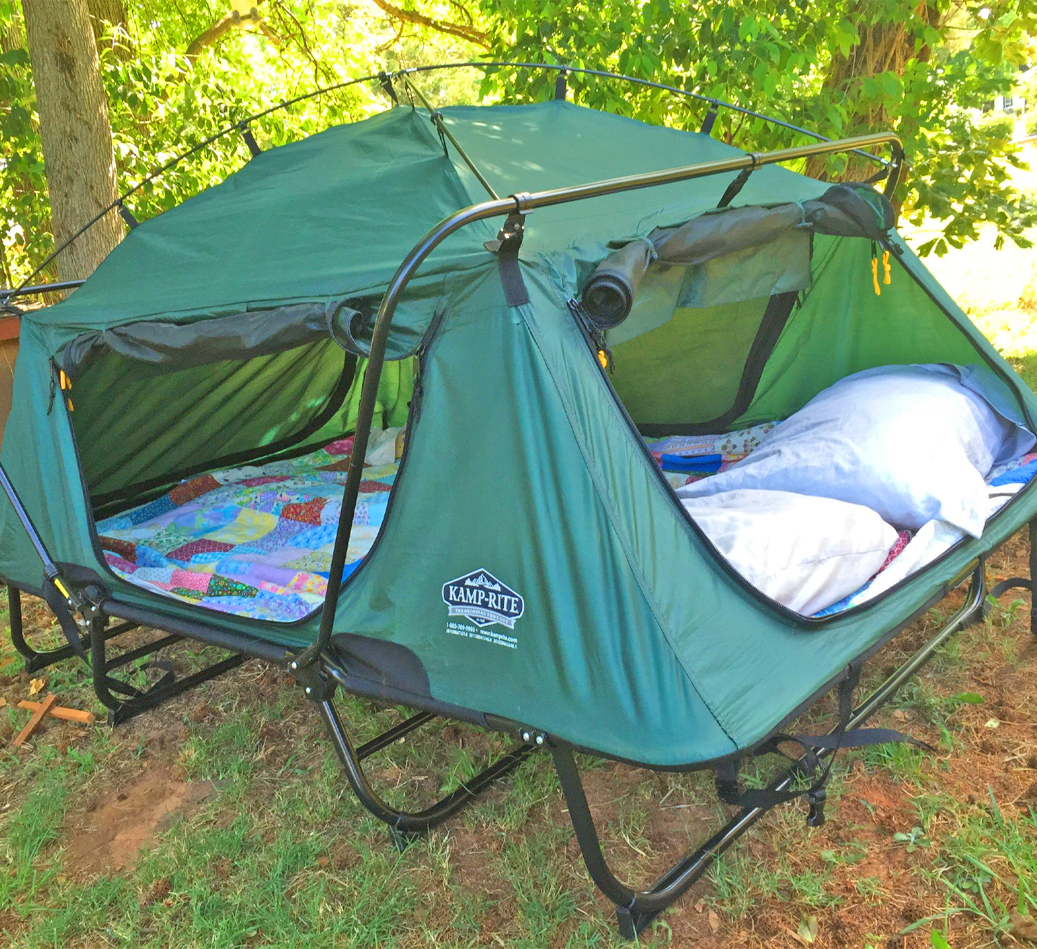Amazing Double Tent Cot Prevents You From Having To Sleep On The Cold Hard Ground