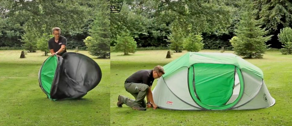 Coleman 4-Person Pop-Up Tent That Sets Up Instantly