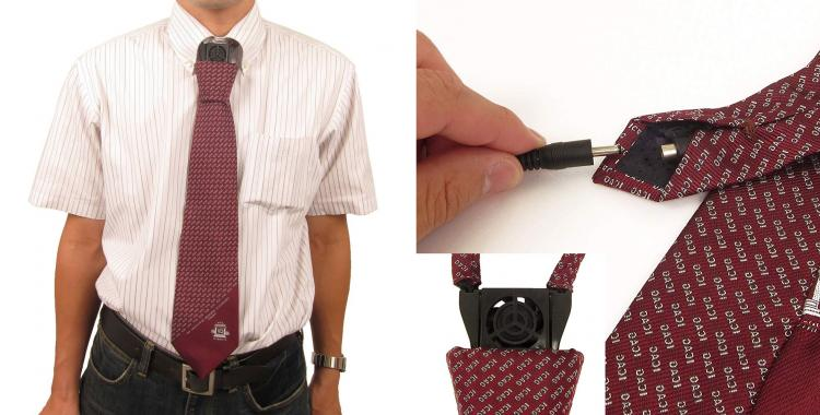 Coolest Japanese Gadgets - Tie With a Built-in Cooling Fan