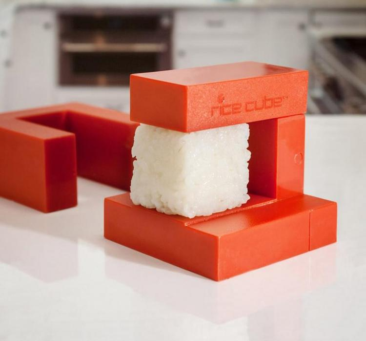 Coolest Japanese Gadgets - Easiest Sushi Rice Cube Maker