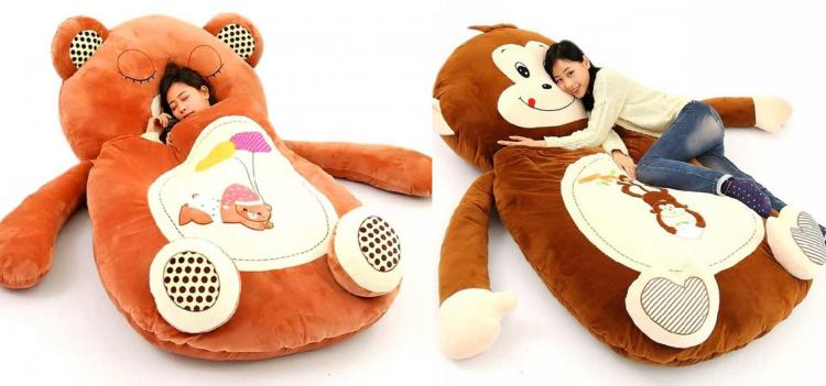 Coolest Japanese Gadgets - Giant Plush Teddy Bear Sleeping Bag Bed