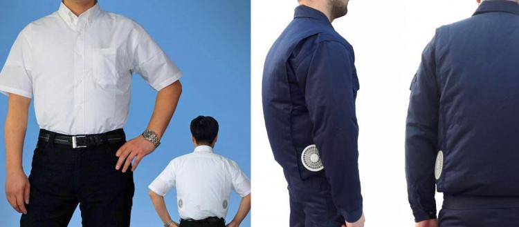 Coolest Japanese Gadgets - Japanese Air-Conditioned Clothing With Built-In Fans