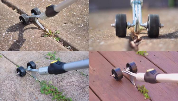 Weed Snatcher Rolling Weed Hook - Rolling Crevice Weed Picking Tool