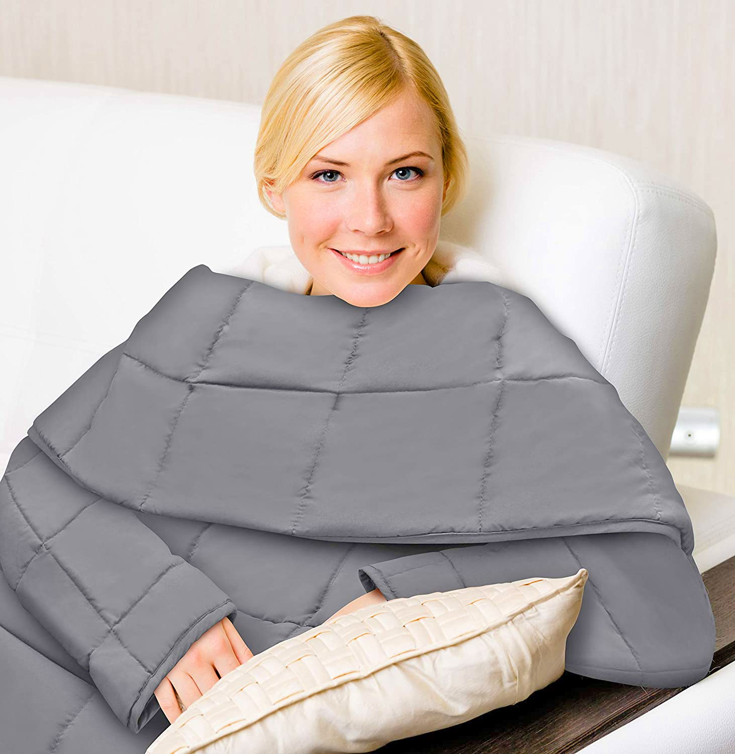 Weighted Blanket with Sleeves - Snuggie Weighted Blanket