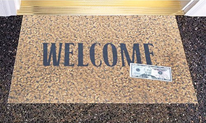 50 Dollar Bill Welcome Door Mat