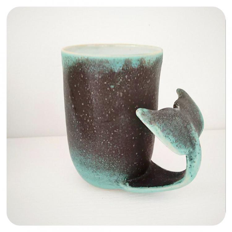 Whale Tail Mug - Curling Whale Tail Coffee Mug