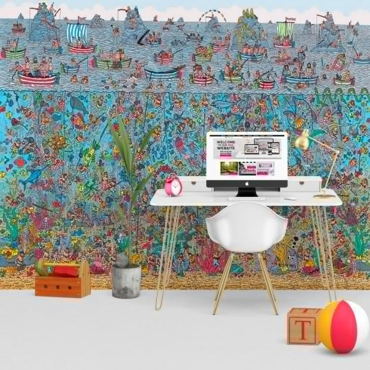 Wheres Waldo Wall Mural