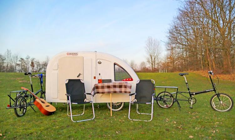 Wide Path Camper - Mini Bicycle Camper - Pull Behind Bike Camper