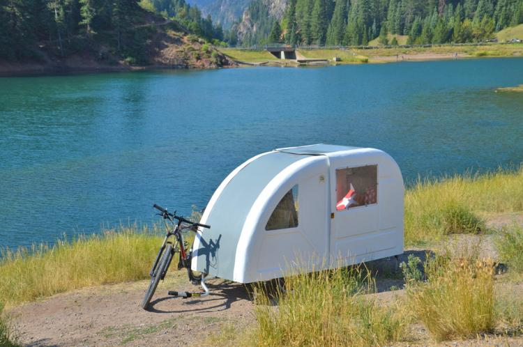 Wide Path Camper A Mini Camper That S Towed With Your Bicycle