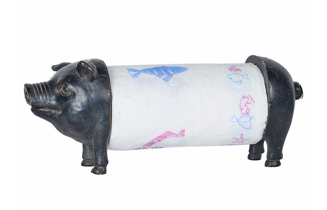 Pig Paper Towel Holder - Pig Paper Towel Dispenser