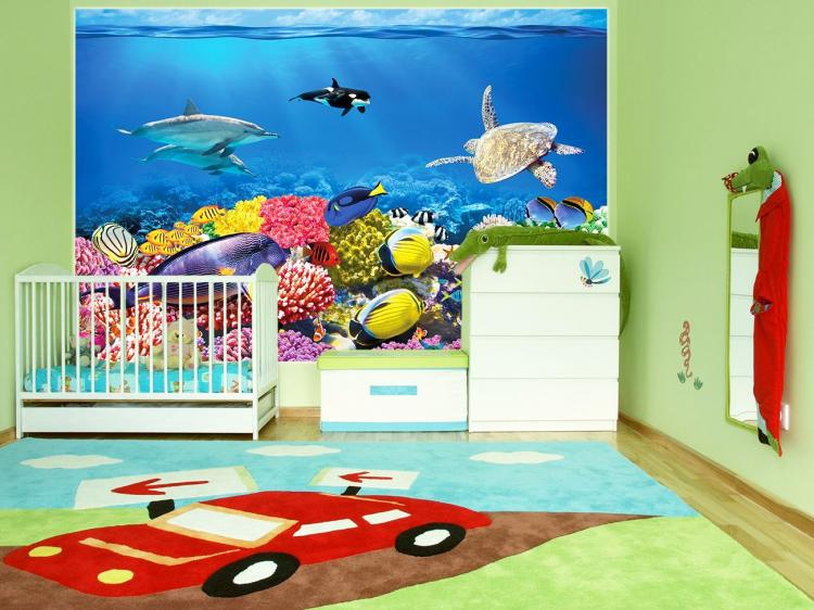 Window Fish Aquarium Film Sticker Decal