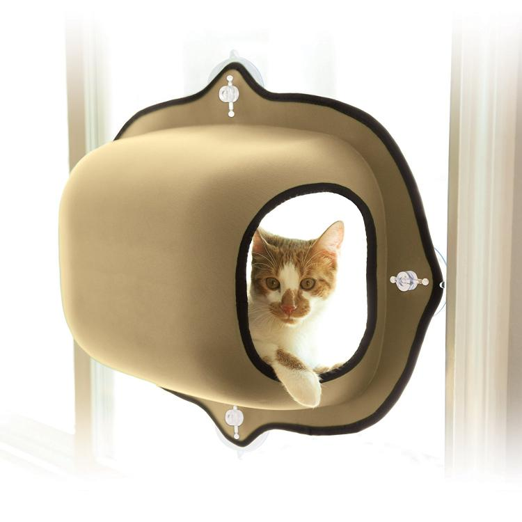 K&H Manufacturing EZ Mount Window Cat Bed - Window Suction Kitty Pod - Car Window Cat Bed
