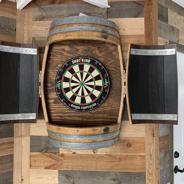 This Wine Barrel Dartboard Cabinet Was, Outdoor Dartboard Cabinet Cover