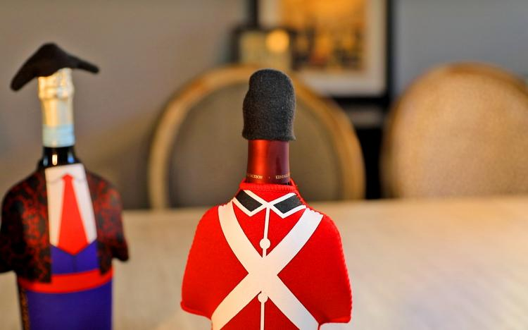 Wine Bottle Costume - Unique wine bottle covers - British Loyalist bottle cover