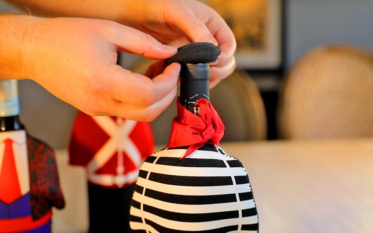 Wine Bottle Costume - Unique wine bottle covers - French Sailor wine bottle cover