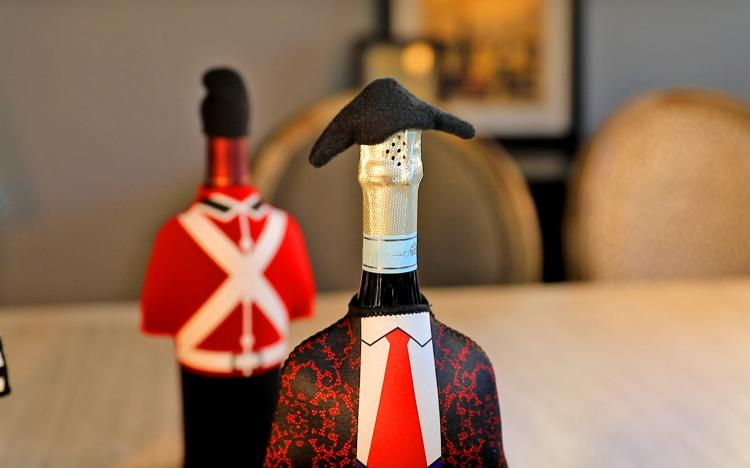 Wine Bottle Costume - Unique wine bottle covers - Spanish bullfighter bottle cover